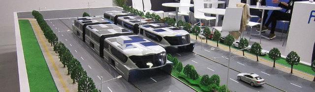 Chiński autobus-tunel